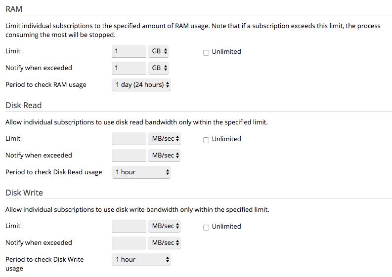 screenshot limitazione risorse di sistema tramite ONYX
